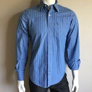 Men's shirt blue white lines